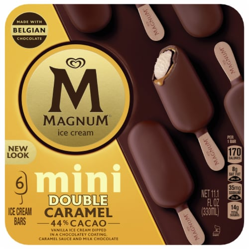 Magnum Mini Double Caramel Vanilla Ice Cream Bars Perspective: front