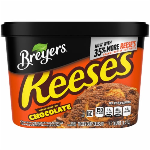Breyers Reese's Peanut Butter Cups Chocolate Ice Cream Perspective: front