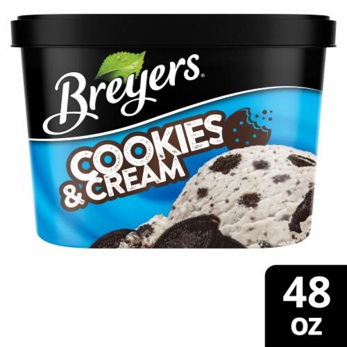 Breyers Oreo Cookies & Cream Ice Cream Perspective: front