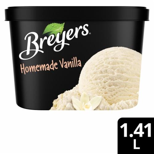 Breyers Homemade Vanilla Ice Cream Perspective: front