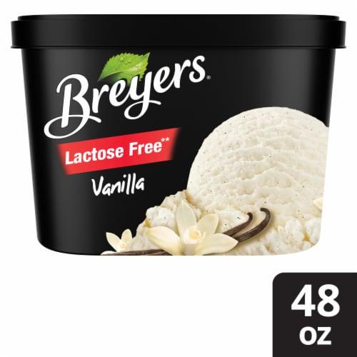 Breyers Lactose Free Vanilla Light Ice Cream Perspective: front