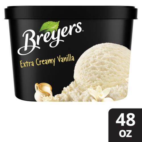 Breyers Extra Creamy Vanilla Ice Cream Perspective: front