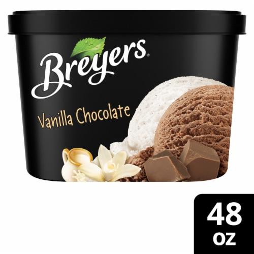 Breyers Vanilla Chocolate Ice Cream Perspective: front