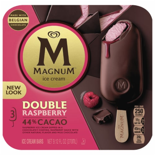Magnum Double Raspberry Ice Cream Bars Perspective: front