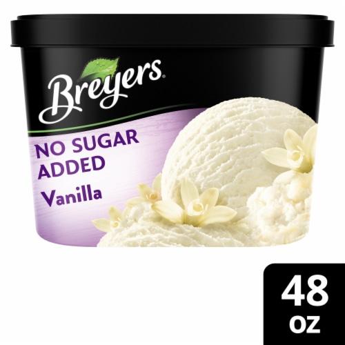 Breyers No Sugar Added Vanilla Ice Cream Perspective: front