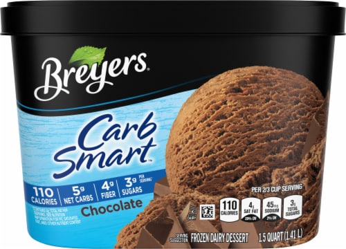 Breyers Carb Smart Chocolate Ice Cream Perspective: front