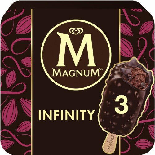Magnum Infinity Chocolate Ice Cream Bars Perspective: front