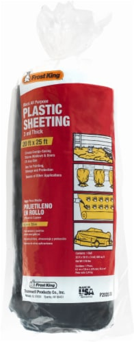 Frost King® All-Purpose 3-Milimeter Plastic Sheeting - Black Perspective: front