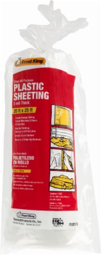 Frost King® All-Purpose 3-Milimeter Plastic Sheeting - Clear Perspective: front
