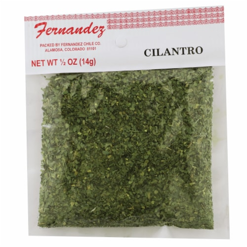 Fernandez Dried Green Cilantro Perspective: front
