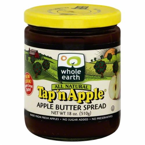 Whole Earth Tap 'n Apple Butter Spread Perspective: front