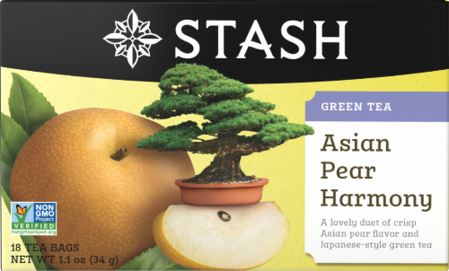 Stash Asian Pear Green Tea Bags Perspective: front
