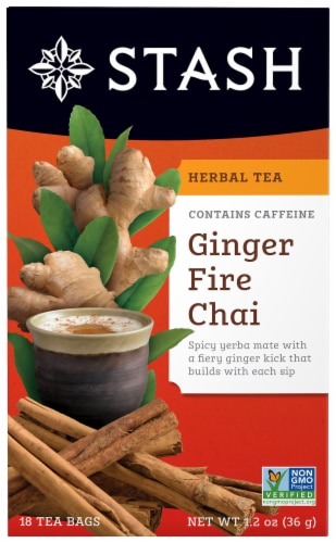Stash Ginger Fire Chai Tea Perspective: front