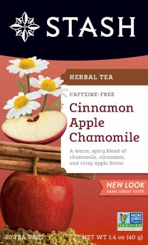 Stash Caffeine Free Apple Cinnamon Chamomile Herbal Tea Perspective: front