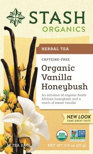 Stash Organic Vanilla Honeybush Herbal Tea Perspective: front