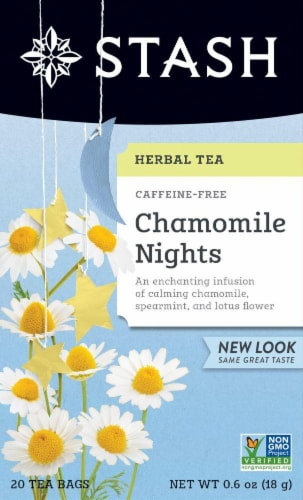 Stash Chamomile Nights Herbal Tea Perspective: front