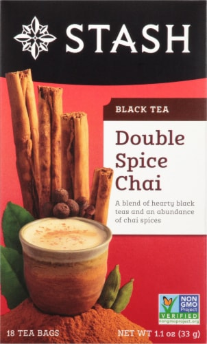 Stash Double Spice Chai Black Tea Bags Perspective: front