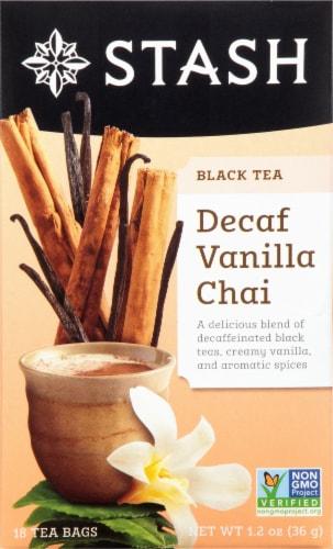 Stash Decaf  Vanilla Chai Black Tea Perspective: front