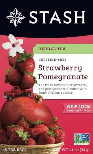 Stash Strawberry Pomegranate Herbal Tea Perspective: front