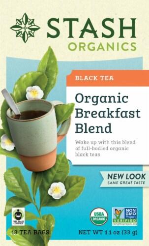 Stash Organic Breakfast Blend Black Tea Perspective: front