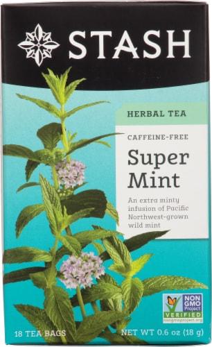 Stash Caffeine Free Super Mint Herbal Tea Perspective: front