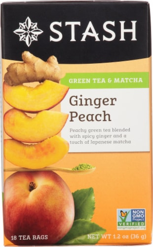 Stash Ginger Peach Matcha Green Tea Perspective: front