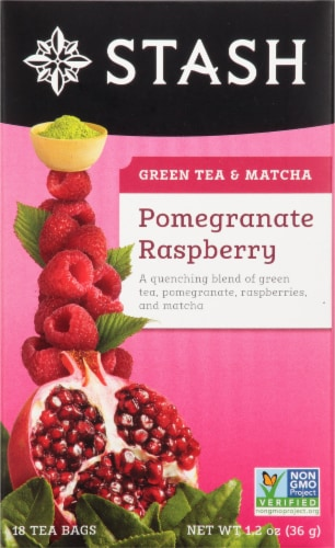 Stash Pomegranate Raspberry Green Tea Perspective: front