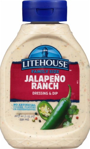 Litehouse Family Favorites Mild Jalapeno Ranch Dressing & Dip Squeeze Bottle Perspective: front