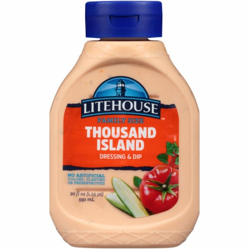 Litehouse Thousand Island Dressing & Dip Family Size Perspective: front