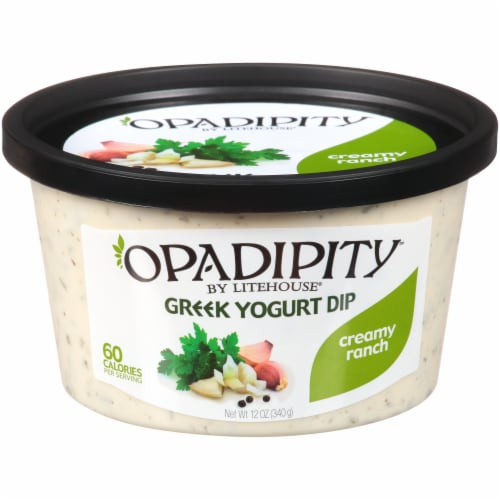 Opadipity by Litehouse Creamy Ranch Greek Yogurt Dip Perspective: front