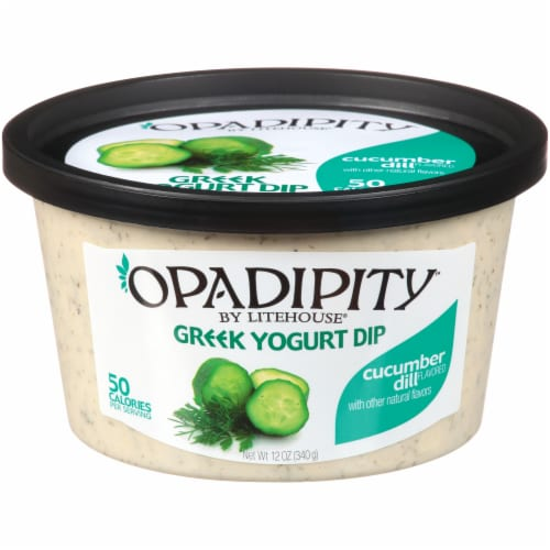 Opadipity by Litehouse Cucumber Dill Greek Yogurt Dip Perspective: front