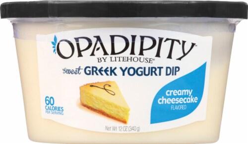 Opadipity by Litehouse Creamy Cheesecake Sweet Greek Yogurt Dip Perspective: front