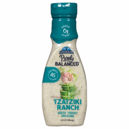 Litehouse Purely Balanced Tzatziki Ranch Dressing Perspective: front