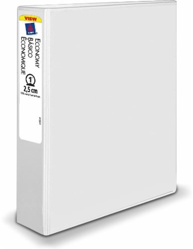 Avery Economy Binder - White Perspective: front