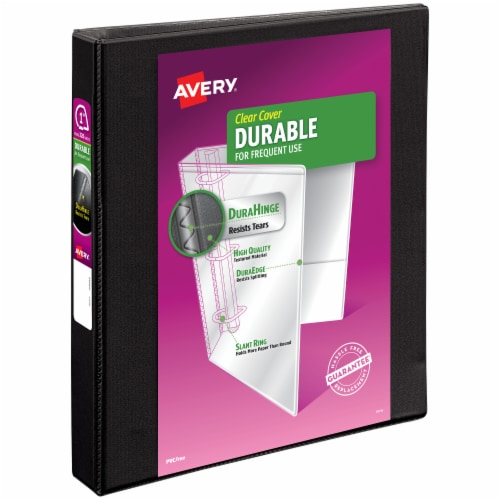 Avery Durable 3-Ring View Binder - Black Perspective: front