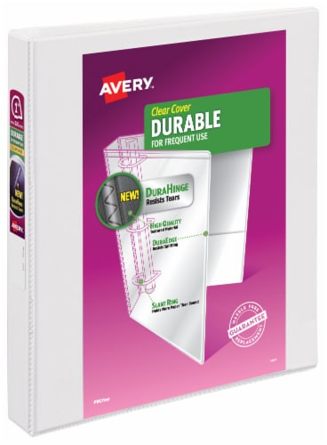 Avery Durable Clear Cover Binder - White Perspective: front
