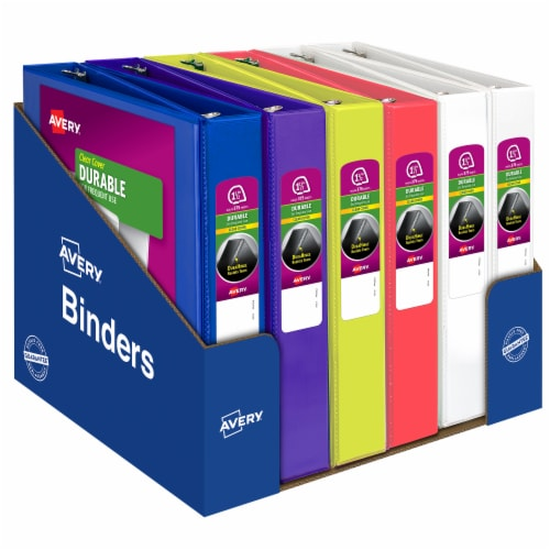 Avery Durable Clear Cover Binder - Assorted Perspective: front