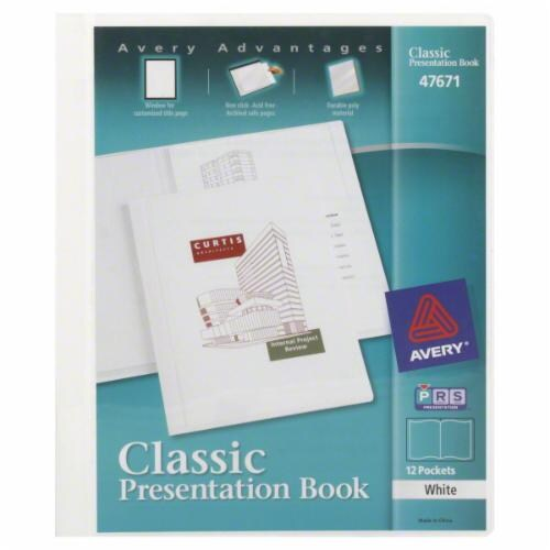 Avery Classic 12-Pocket Presentation Book Perspective: front