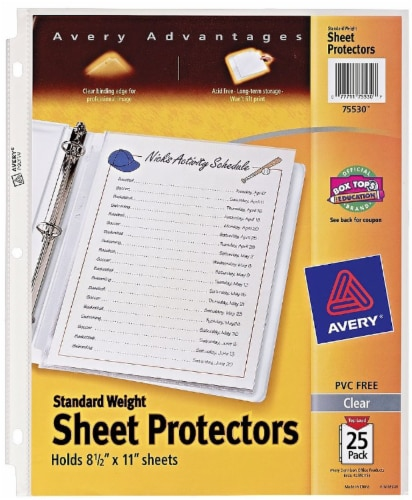 Avery Advantages Standard Weight Sheet Protectors - Clear Perspective: front