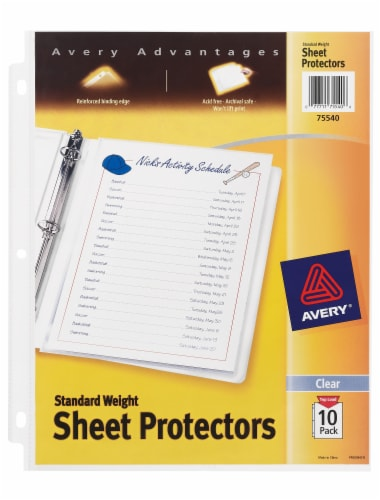 Avery Standard Weight Sheet Protectors - Clear Perspective: front