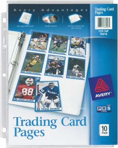 Avery Advantages Trading Card Pages 10 Pack Perspective: front