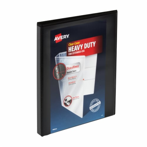 Avery Clear Cover Heavy Duty Binder - Black Perspective: front