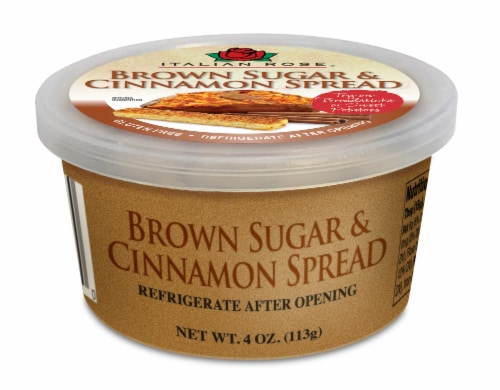 Italian-Rose Brown Sugar Cinnamon Spread Perspective: front