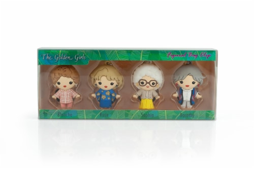 The Golden Girls 4-Piece Foam Figural Backpack Clip Figure Box Set Toynk Exclusive Perspective: front