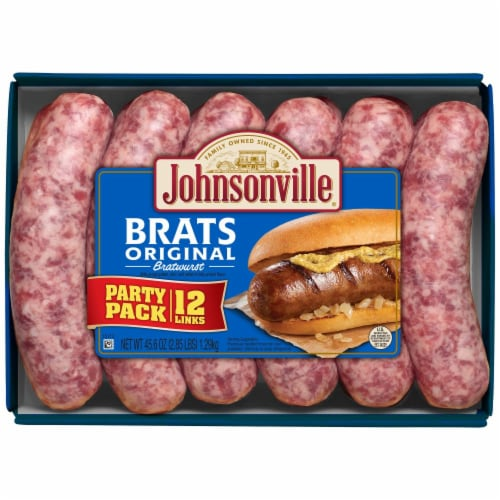 Johnsonville Original Bratwurst Party Pack 12 Count Perspective: front