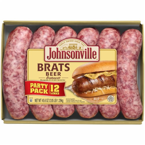 Johnsonville Beer Bratwurst Party Pack Perspective: front