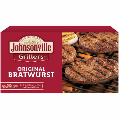 Johnsonville Grillers Original Bratwrust Patties Perspective: front