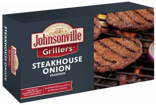 Johnsonville Grillers Steakhouse Onion Seasoned Patties Perspective: front