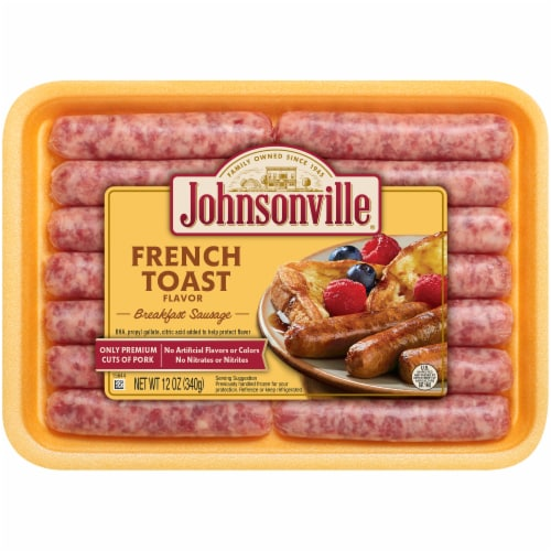 Johnsonville French Toast Flavored Breakfast Pork Sausage Links Perspective: front