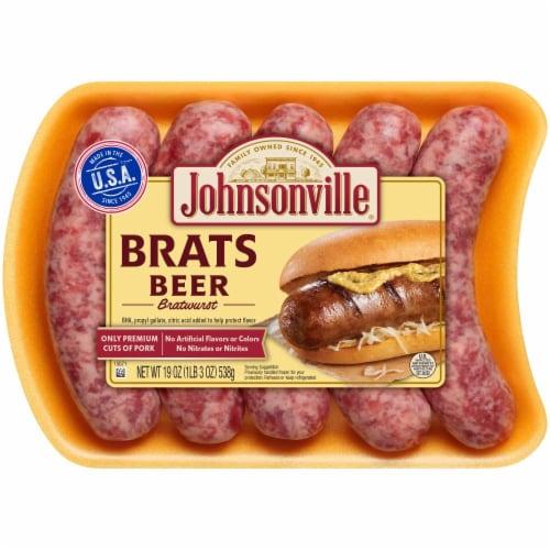 Johnsonville Beer Bratwursts Perspective: front